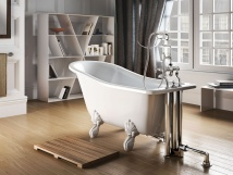 CLEAR WATER BATHS York slipper wanna wolnostojąca z nogami białymi 1500 x 740 x 620 mm T1A/L1W