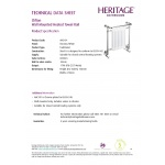 Heritage Clifton Heated Grzejnik chrom AHC101